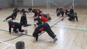 P.E. in the sports centre